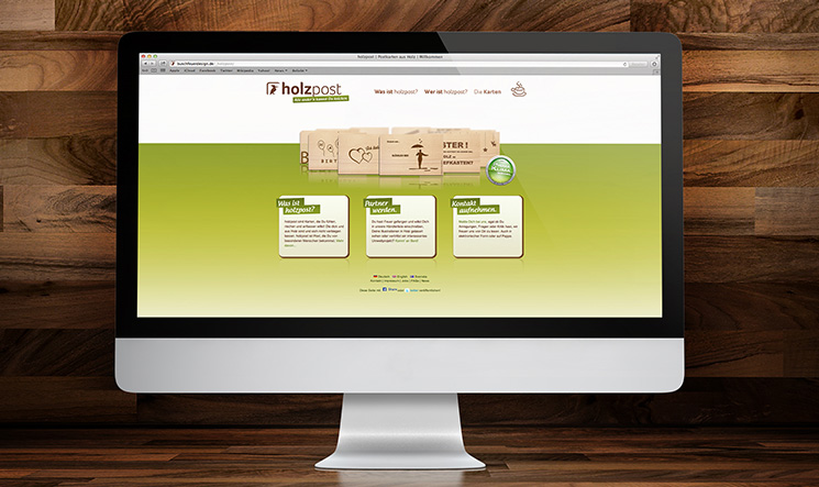 holzpost, Corporate Design